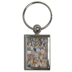 Multi Color Stones Wall Texture Key Chains (Rectangle)