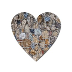Multi Color Stones Wall Texture Heart Magnet