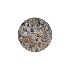 Multi Color Stones Wall Texture Golf Ball Marker