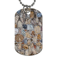 Multi Color Stones Wall Texture Dog Tag (Two Sides)