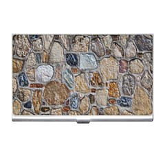Multi Color Stones Wall Texture Business Card Holders