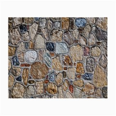 Multi Color Stones Wall Texture Small Glasses Cloth