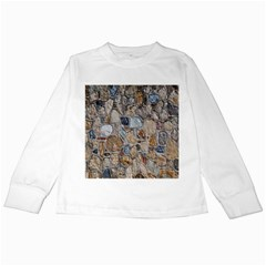 Multi Color Stones Wall Texture Kids Long Sleeve T-Shirts