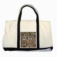 Multi Color Stones Wall Texture Two Tone Tote Bag