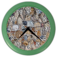 Multi Color Stones Wall Texture Color Wall Clocks