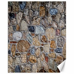 Multi Color Stones Wall Texture Canvas 11  X 14