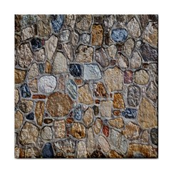 Multi Color Stones Wall Texture Face Towel