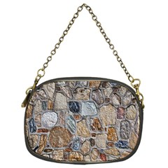 Multi Color Stones Wall Texture Chain Purses (two Sides)