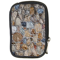 Multi Color Stones Wall Texture Compact Camera Cases