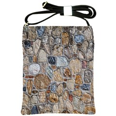 Multi Color Stones Wall Texture Shoulder Sling Bags