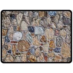 Multi Color Stones Wall Texture Fleece Blanket (large)