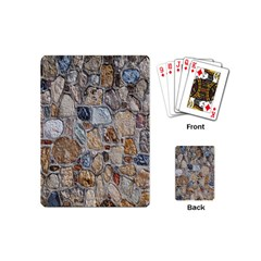 Multi Color Stones Wall Texture Playing Cards (mini)