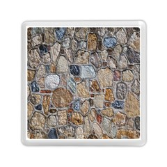 Multi Color Stones Wall Texture Memory Card Reader (square)