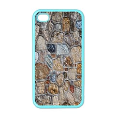 Multi Color Stones Wall Texture Apple iPhone 4 Case (Color)