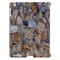 Multi Color Stones Wall Texture Apple iPad 3/4 Hardshell Case (Compatible with Smart Cover)