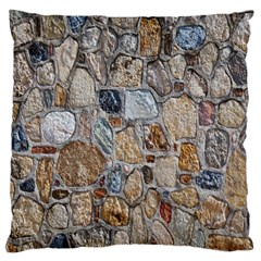 Multi Color Stones Wall Texture Large Cushion Case (One Side)