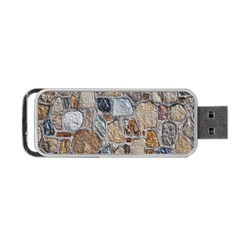 Multi Color Stones Wall Texture Portable USB Flash (Two Sides)
