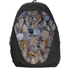 Multi Color Stones Wall Texture Backpack Bag