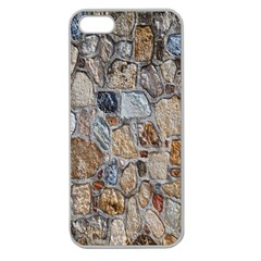 Multi Color Stones Wall Texture Apple Seamless iPhone 5 Case (Clear)