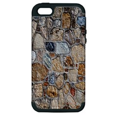 Multi Color Stones Wall Texture Apple iPhone 5 Hardshell Case (PC+Silicone)