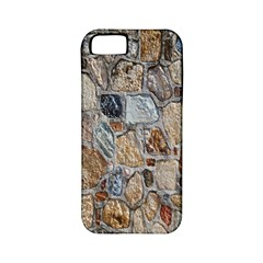 Multi Color Stones Wall Texture Apple Iphone 5 Classic Hardshell Case (pc+silicone)
