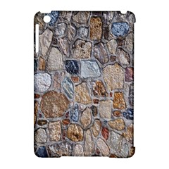 Multi Color Stones Wall Texture Apple iPad Mini Hardshell Case (Compatible with Smart Cover)