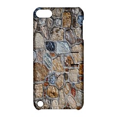 Multi Color Stones Wall Texture Apple iPod Touch 5 Hardshell Case with Stand