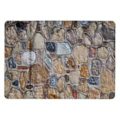 Multi Color Stones Wall Texture Samsung Galaxy Tab 10.1  P7500 Flip Case
