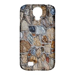 Multi Color Stones Wall Texture Samsung Galaxy S4 Classic Hardshell Case (PC+Silicone)