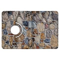 Multi Color Stones Wall Texture Kindle Fire HDX Flip 360 Case