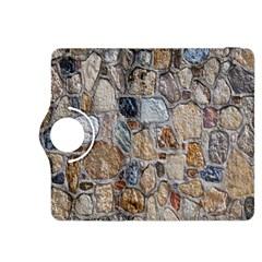 Multi Color Stones Wall Texture Kindle Fire HDX 8.9  Flip 360 Case