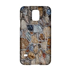 Multi Color Stones Wall Texture Samsung Galaxy S5 Hardshell Case