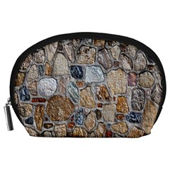 Multi Color Stones Wall Texture Accessory Pouches (Large)