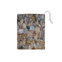 Multi Color Stones Wall Texture Drawstring Pouches (Small)