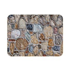 Multi Color Stones Wall Texture Double Sided Flano Blanket (Mini)