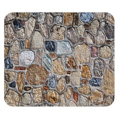 Multi Color Stones Wall Texture Double Sided Flano Blanket (small)