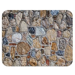 Multi Color Stones Wall Texture Double Sided Flano Blanket (medium)