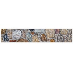 Multi Color Stones Wall Texture Flano Scarf (Large)