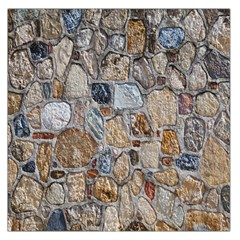 Multi Color Stones Wall Texture Large Satin Scarf (Square)