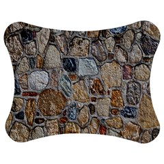 Multi Color Stones Wall Texture Jigsaw Puzzle Photo Stand (bow)