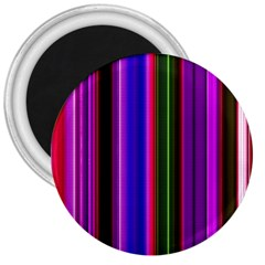 Fun Striped Background Design Pattern 3  Magnets