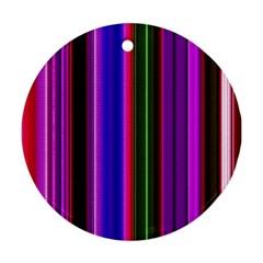Fun Striped Background Design Pattern Ornament (Round)
