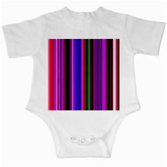 Fun Striped Background Design Pattern Infant Creepers