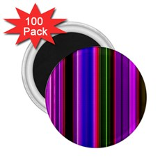 Fun Striped Background Design Pattern 2 25  Magnets (100 Pack)