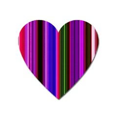 Fun Striped Background Design Pattern Heart Magnet