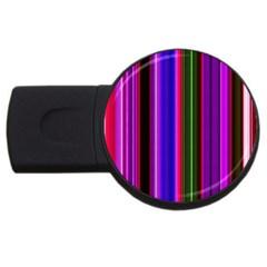 Fun Striped Background Design Pattern USB Flash Drive Round (1 GB)