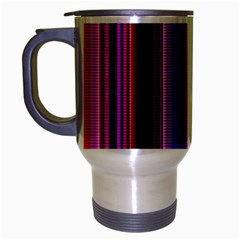Fun Striped Background Design Pattern Travel Mug (silver Gray)