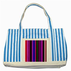 Fun Striped Background Design Pattern Striped Blue Tote Bag