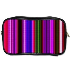 Fun Striped Background Design Pattern Toiletries Bags
