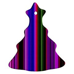 Fun Striped Background Design Pattern Ornament (christmas Tree)